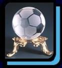 水晶サッカーボール