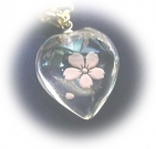 水晶ハート桜